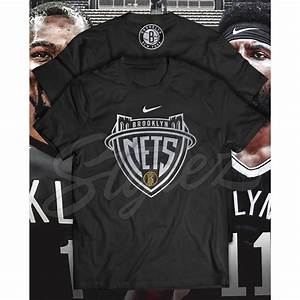 Softex Size Chart Brooklyn Nets Logo Art With Kyrie Irving Kevin Durant Logo