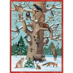 kinderzimmer wald tiere im winter adventskalender 52 x 38 cm coppenrath verlag mytoys