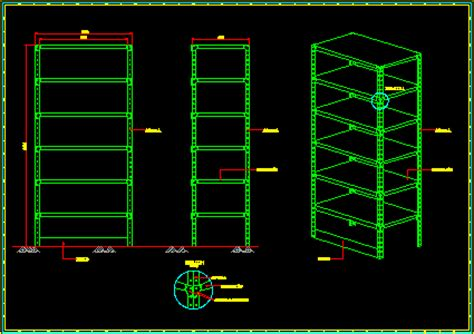 metal storage shelve  dwg block  autocad designs cad