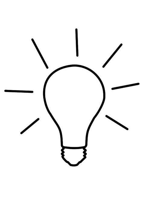 light bulb coloring pages clipart