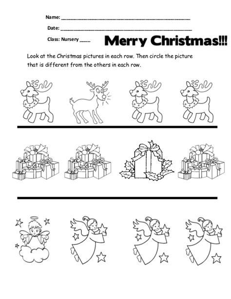 Samedifferent Christmas Worksheets