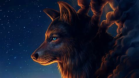 74+ Wolf Art Wallpapers On Wallpaperplay