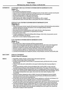 attractive call center resume examples model example With call center customer service representative resume