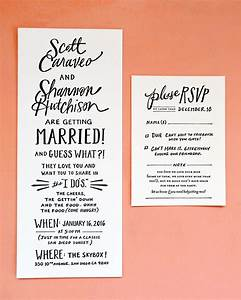 Hand lettered san diego wedding invitations for Hand lettered invitations