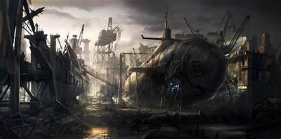 Digital Submarine Apocalyptic Deviantart Radojavor Rado Javor