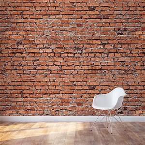 Red Brick Wall Mural Brick Wall Mural Decal Wallums