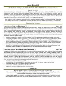 resume objective part time job credit analyst resume