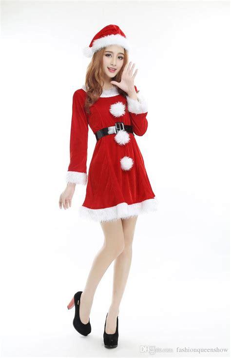 where can i buy a santa dress santa costume sleeve mini dress with santa hat