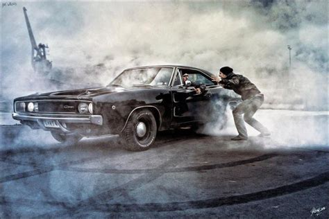 Burnout + Charger + Artististic Photography/editing