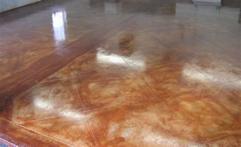 Stained Concrete Floors Basement   Wanderpolo Decors : The