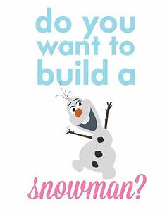Frozen olaf.. do you want to build a snowman? | Disney ...