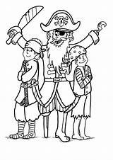 Coloring Pirate Pirates Children His Caribbean sketch template