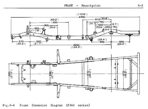 1951 Simca Wiring Diagram by Fj45lv Frame Blueprint From Factory Service Manual