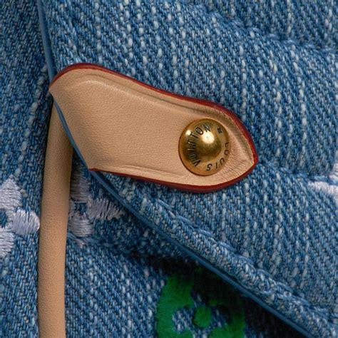 louis vuitton  wave chain shoulder bag embroidered monogram denim   sale  stdibs