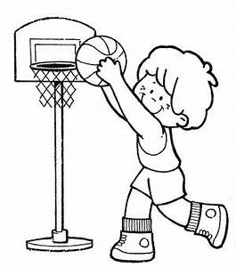 Playing Basketball Clipart Black And White - ClipartXtras
