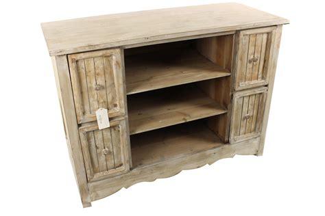 meuble bas rangement bois ceruse blanc 4 tiroirs 102x45x75cm