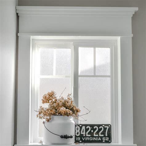 farmhouse window   fancy miter cuts  sight window interior trim  baseboard