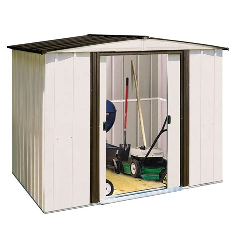 Home Depot Arrow Shed - arrow newport 8 ft x 6 ft steel shed np8667 the home depot