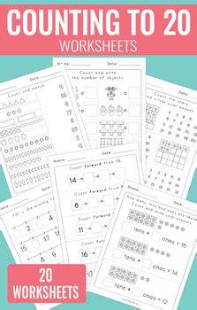 counting   worksheets kindergarten  easy peasy