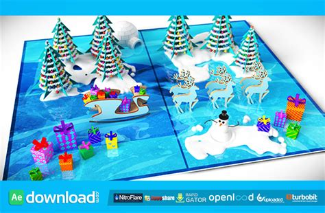 christmas pop  card videohive template