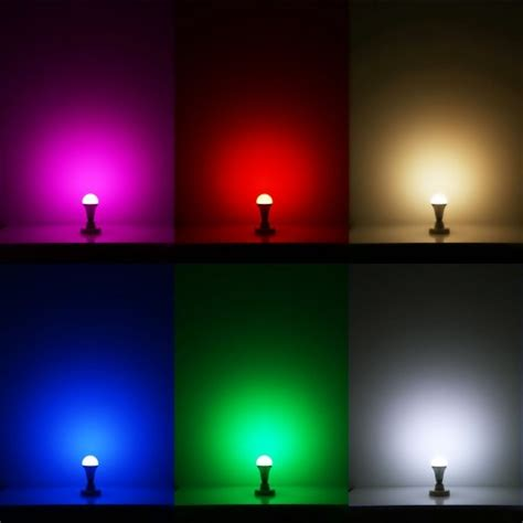 remote controlled color changing a19 5w led light bulb 16