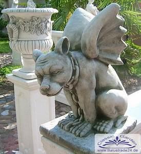 Windlichter Aus Beton Gießen : gartenfigur drache gargoyle hund mit fl gel statue fantasie figur gartenfiguren aus beton ~ Orissabook.com Haus und Dekorationen
