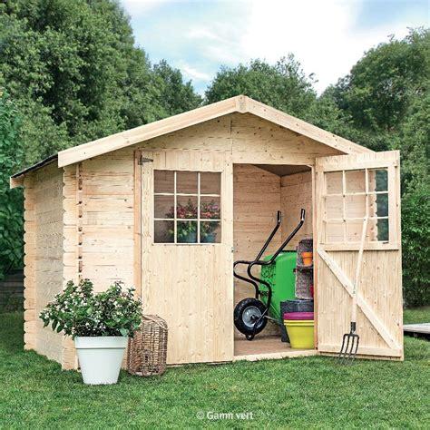 abri en bois abri de jardin en bois 6 75 m 178 ep 28 mm flodova palette 2 10 x 1 x 0 58 m gamm vert