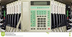 Office Telephone With Phone Switch System Stock Image