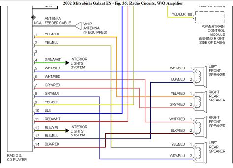 2002 Mitsubishi Eclipse Wire Diagram by I Need The Wiring Diagram For A Cd Player On A 02