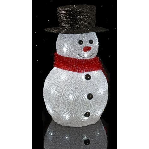 bonhomme de neige lumineux 22 cm 32 leds d 233 coration de no 235 l ac deco