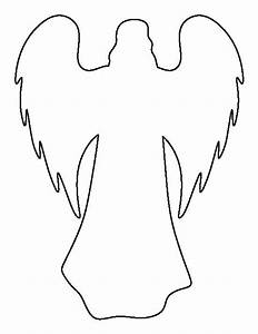 Angel pattern. Use the printable outline for crafts ...