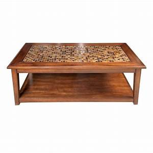 tile top coffee table plans woodworking projects plans With coffee table with tiles