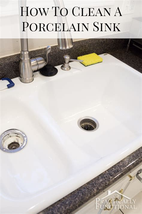 even the kitchen sink cleaner how to clean a porcelain sink including the stains and 8883