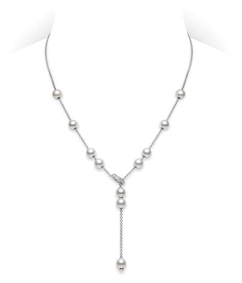 cultured pearl necklace pearls  motion mikimoto