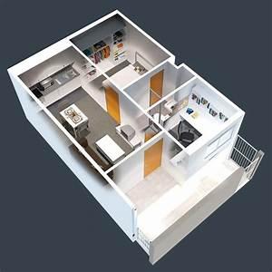 Studio Apartment Floor Plans Open Concept - HomesCorner Com