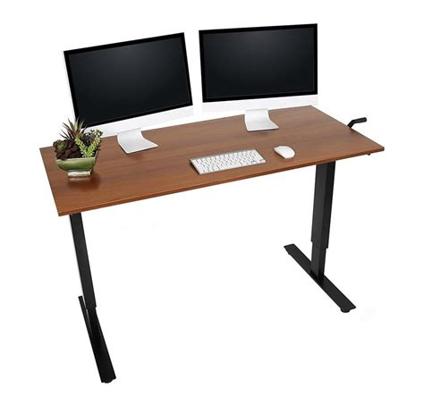 desk big enough for 2 monitors the best standing desks and converters for dual monitor