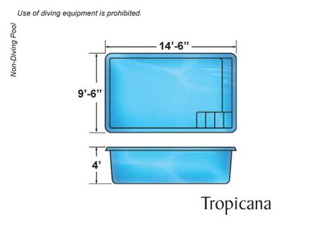 small size swimming pool tropicana small fiberglass inground viking swimming pool