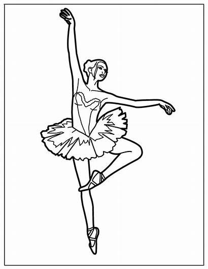 Ballerina Coloring Ballet Coloringhome Dance Printable Ballett