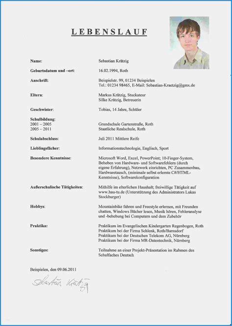 Lebenslauf Muster Praktikum by 15 Lebenslauf Vorlage Praktikum 8 Klasse Centerville