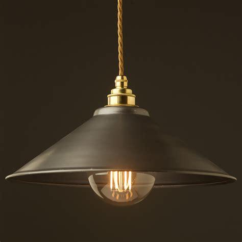 rustic pendant lighting rustic steel light shade 310mm pendant