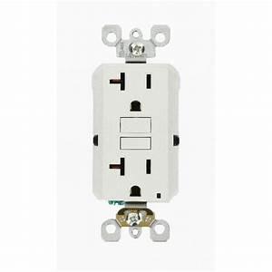 Leviton 20 Amp 125-volt Duplex Self-test Slim Gfci Outlet  White  3-pack -m22-gfnt2-03w