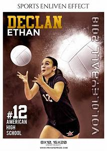 Collage Template Photoshop Declan Ethan Volleyball Sports Enliven Effect