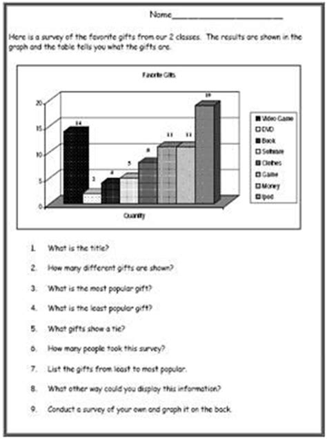 math worksheets  practice graphs  charts