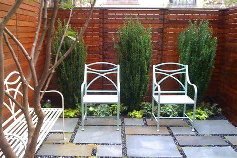 Nyc Backyard by Nyc Townhouse Garden Backyard Roof Garden Bluestone