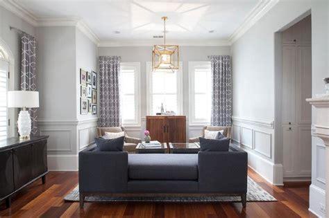 navy blue tete  tete sofa transitional living room
