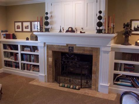 Fireplace With Bookcase Surround by 22 Best Images About Fireplace Bookcases On