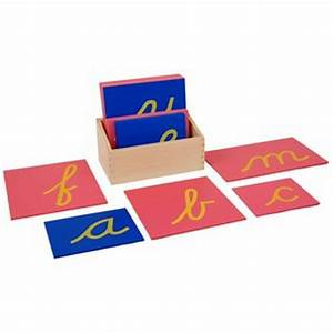 lowercase cursive sandpaper letters w box i am montessori With montessori cursive sandpaper letters