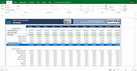 profit loss excel template exceltemplates