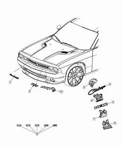 2019 Dodge Challenger Nameplate  Challenger   Front Fascias Parts Module    Grille Badge