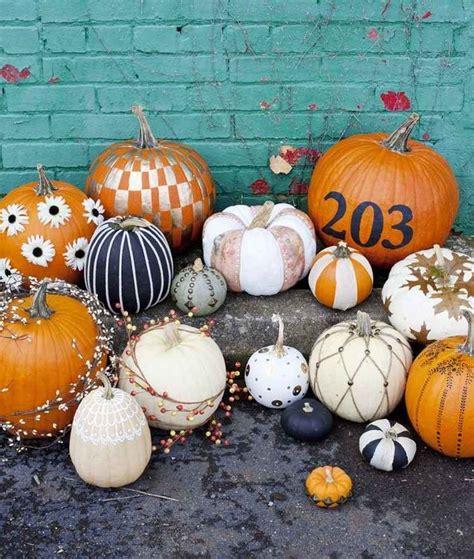 halloween kuerbisse bemalen  ideen zum selbermachen
